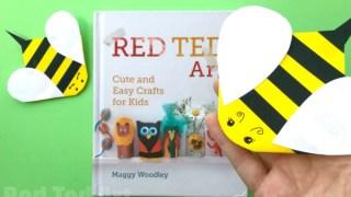 Bee Corner Bookmark Paper Crafts for Kids