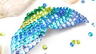 Mermaid Fin Hair Clip Craft