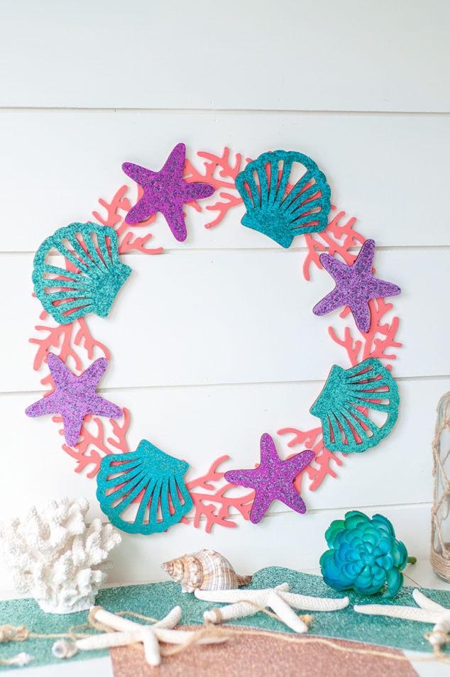 Galaxy Glitter Mermaid Craft - Mermaid Inspired Wreath