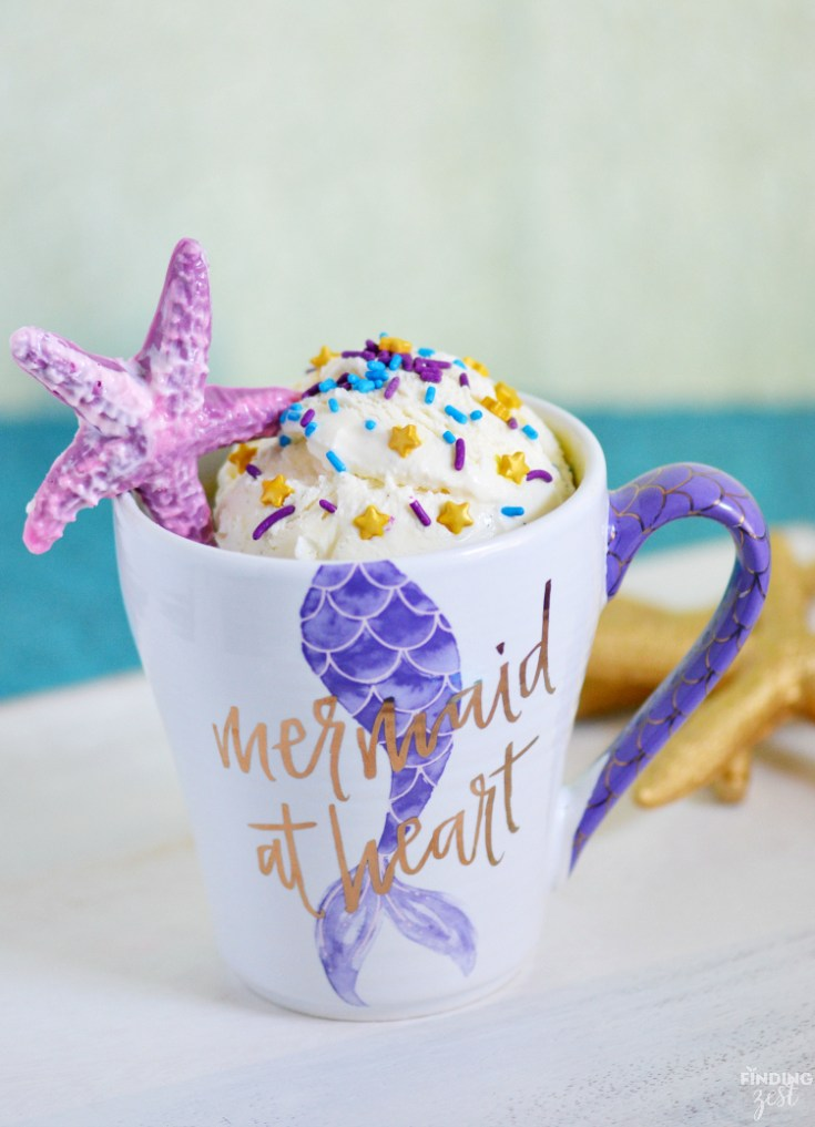 Mermaid Confetti Mug Cake