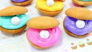 Clam Shell Cookies - Easy No-Bake Mermaid Party Idea
