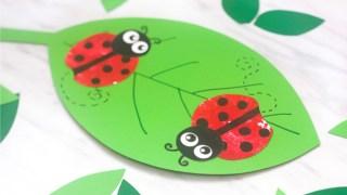 Apple Stamp Ladybug Craft For Kids