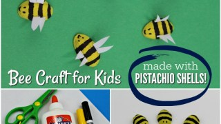 Adorable Pistachio Shells Bee Craft for Kids