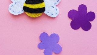 Felt Bumble Bee Craft with Free Pattern