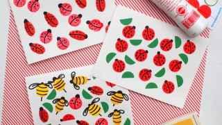Summer Crafts for Kids: Bug Cards