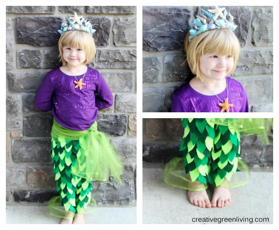 Mermaid Costume Tutorial {includes no sew option!}