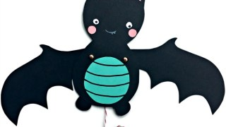 Bat Paper Puppet - Red Ted Art