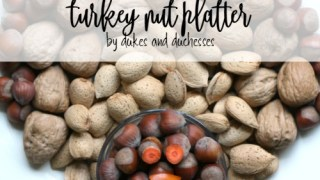 Turkey Nut Platter for Thanksgiving