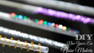 DIY New Year's Eve Party Straw Noisemakers