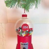 DIY Vintage Gumball Machine Ornament
