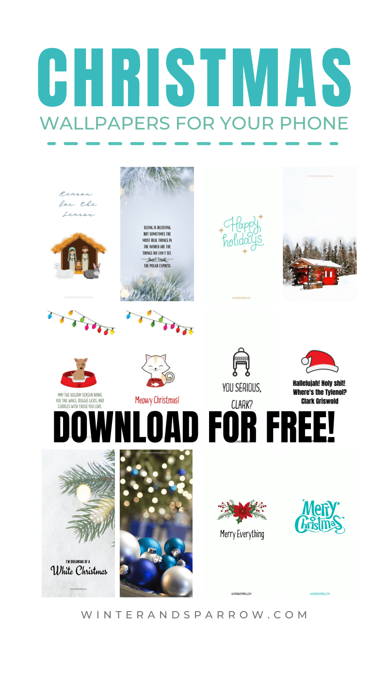 Download one of 13 Cute + Cozy Christmas Wallpapers For Your Phone + Enter for your chance to win our ULTA® Giveaway {US} | winterandsparrow.com #christmaswallpapersforiphone #freephonewallpapers #christmaswallpapersfree #christmaswallpapersiphone