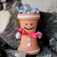 DIY Terra Cotta Gingerbread Man