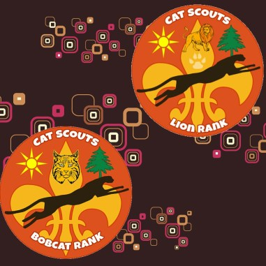 Bobcat and Lion badges