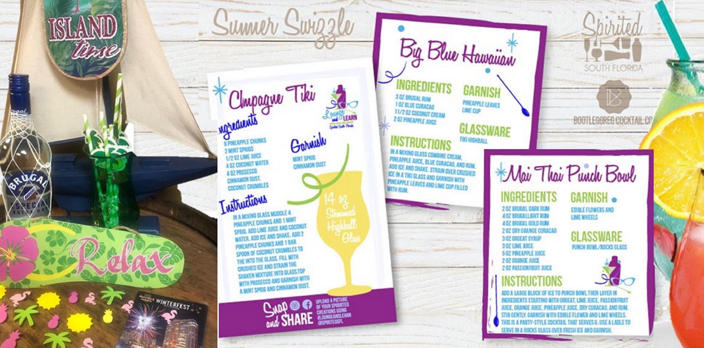 recipies for June 9 virtual cocktail series