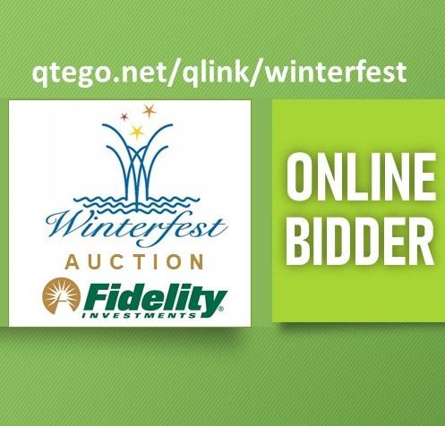 Online bidder badge for the Winterfest Boat Parade auction on Qtego