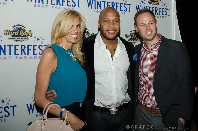 Flo Rida with Christine and Mark Swenson