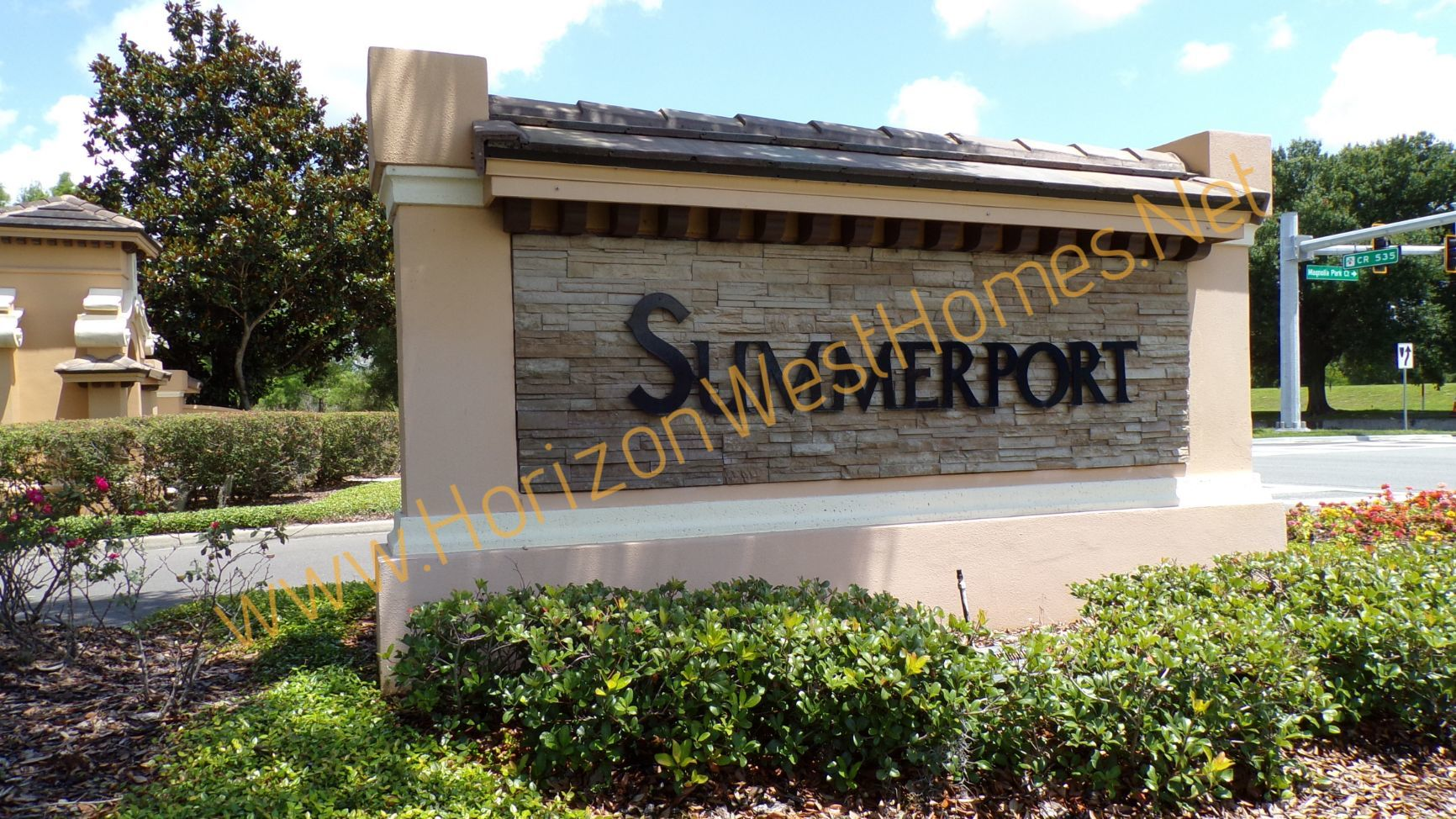 Summerport Community WIndermere Florida. Entrance sign.