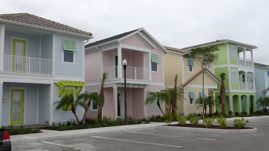 Margaritaville Multi Color Homes. Resort Cottages for Sale in Kissimmee Orlando