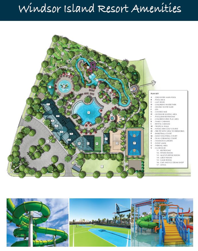 Windsor Island Resort Amenities Map