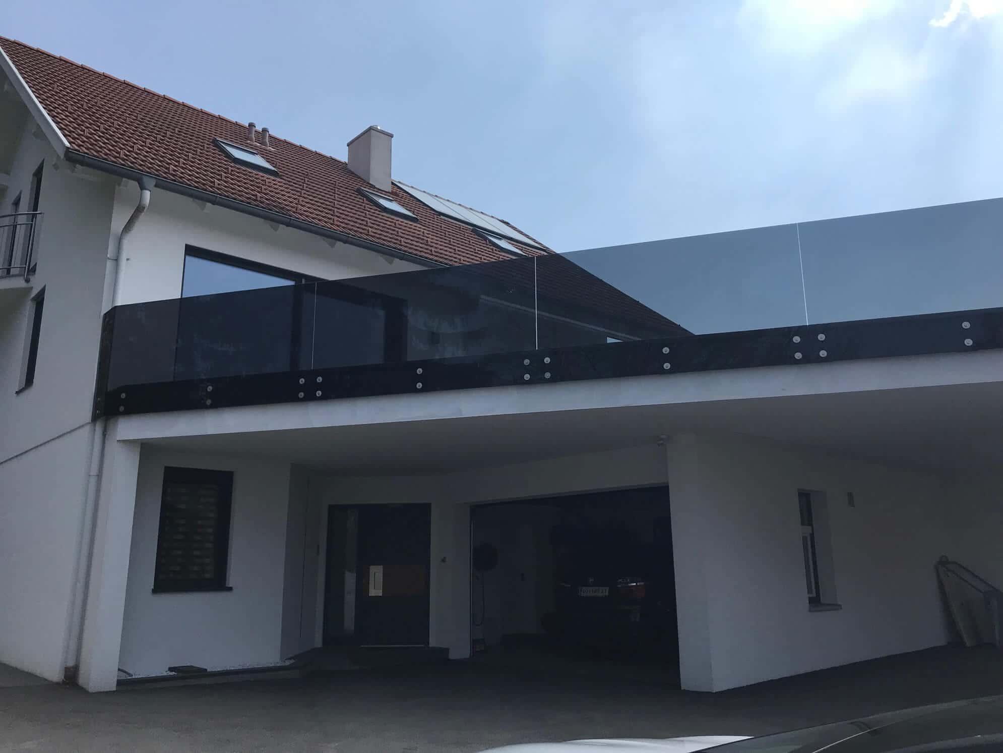 Balkon Sichtschutz Zum Schieben Balkon Glas Windschutz