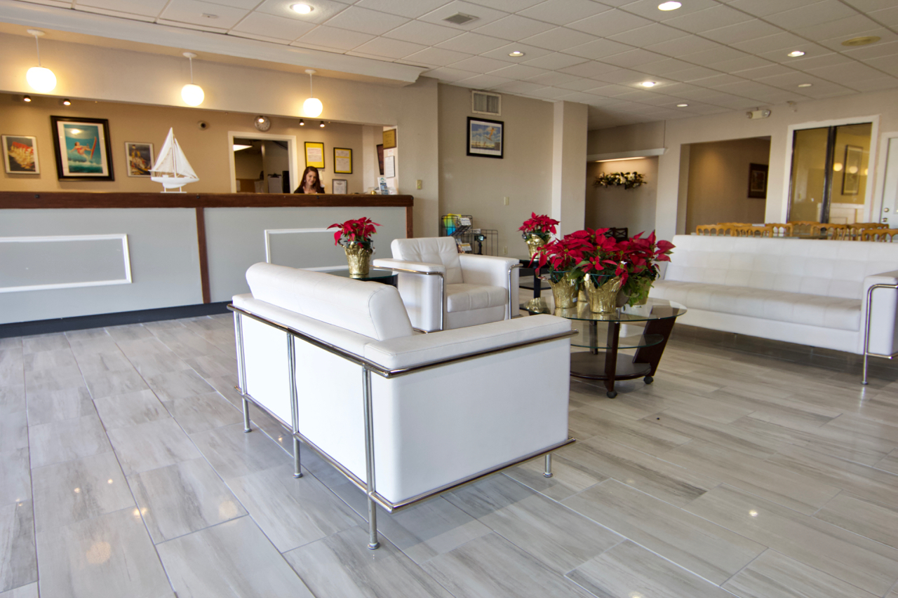 Remodeled Lobby At Winter Haven Gardens Inn And Banquets Center