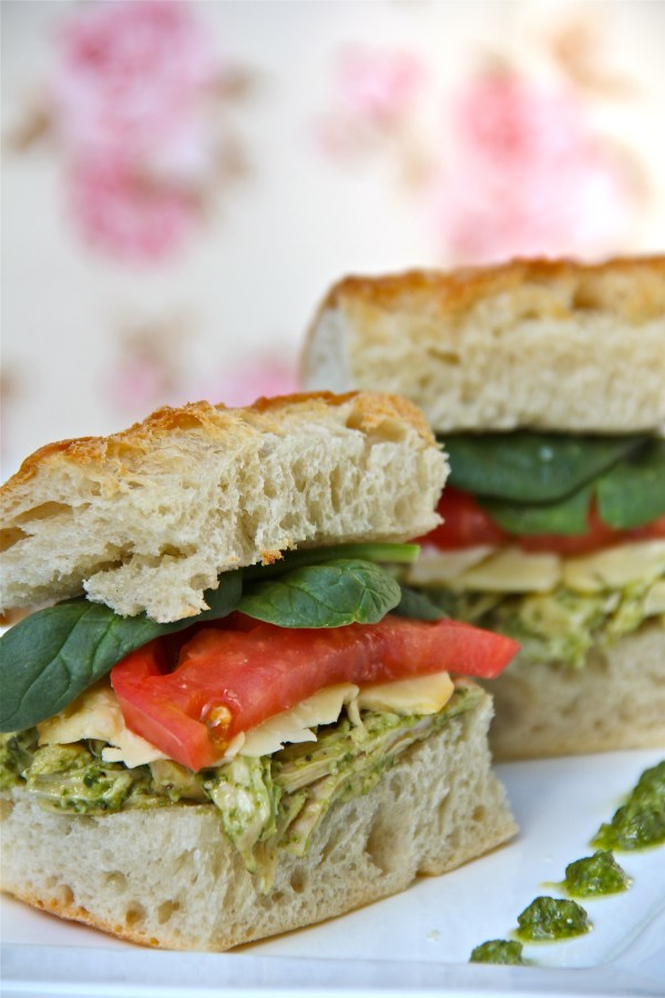 Pesto Chicken Salad Sandwich winter monroe