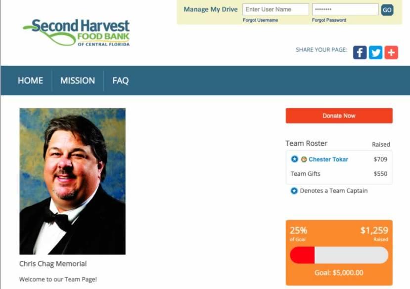 Chris Chag Second Harvest