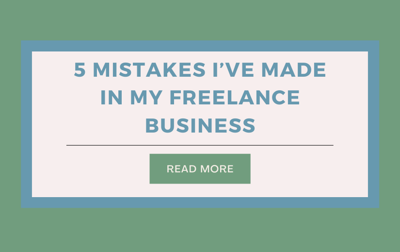mistakes made in freelance business
