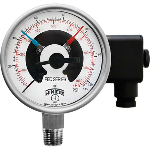 PEC PREMIUM STAINLESS STEEL PRESSURE GAUGE WITH ELECTRICAL