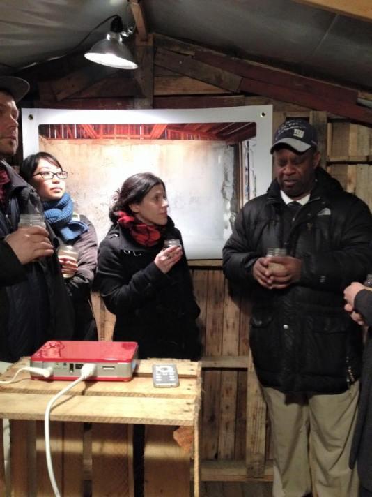 Demetrice Mills giving a history of Classon-Fulgate Garden