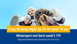 Crazy Booking Night Wintersport met kerst