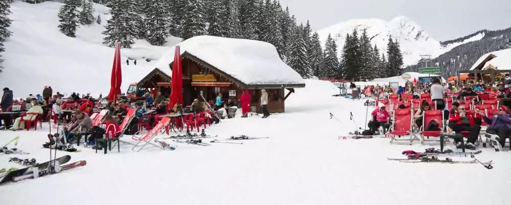 Wintersport met kerst of oud en nieuw