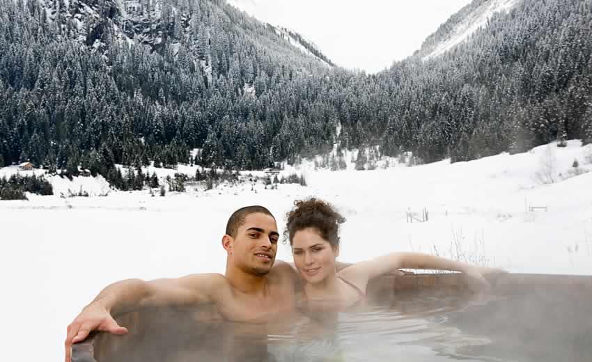 Romantische wintersport