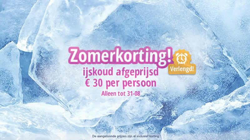 30 euro zomerkorting per persoon