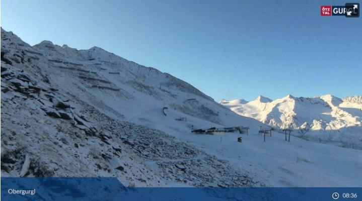 winterse ochtend in Obergurgl