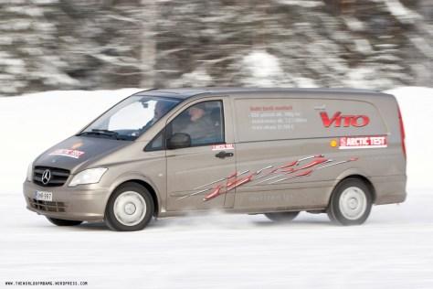 Van in Snow