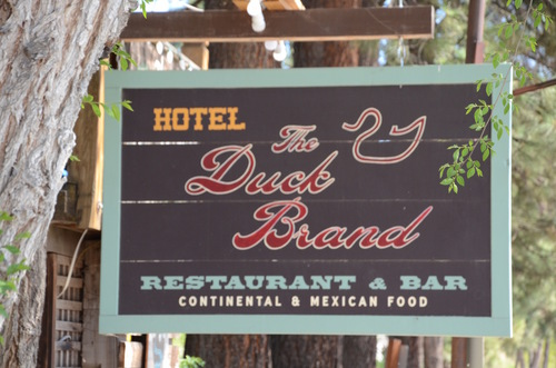 Duck Brand wooden sign