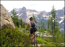 cutthroat pass biking trail in winthrop wa