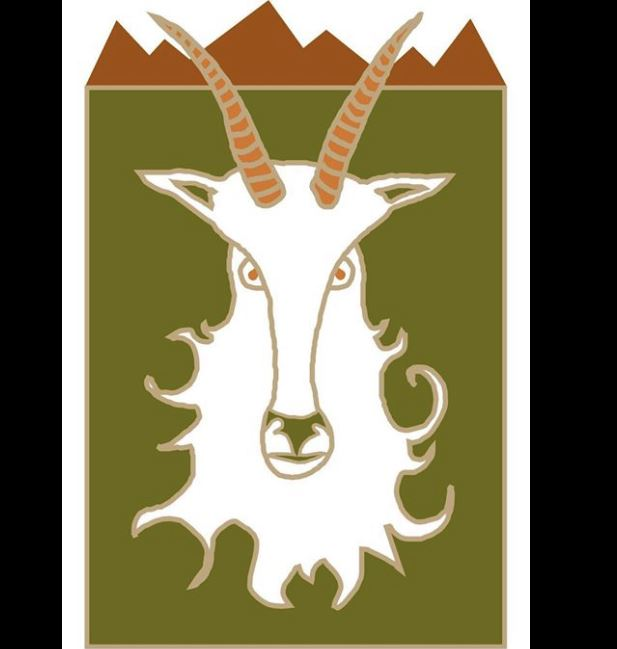 logo of a white goat with a beard