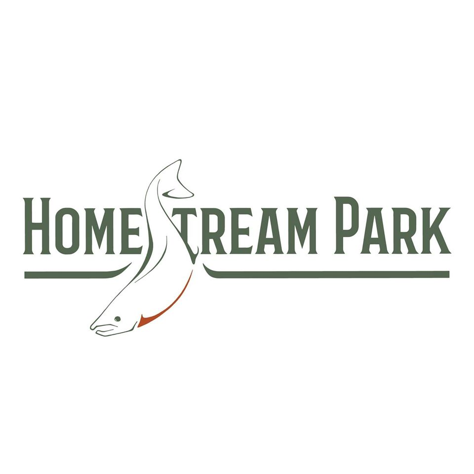 homestream park logo with salmon
