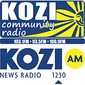 KOZI AM community radio logo