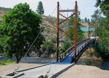 photo of suspension bridge