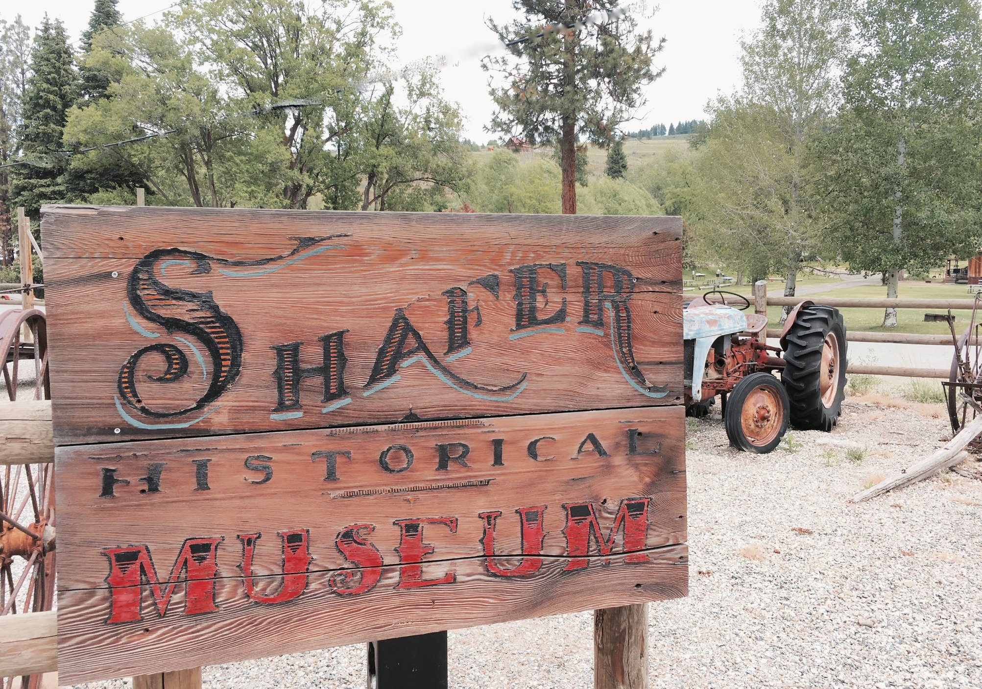 Shafer Museum Wood sign