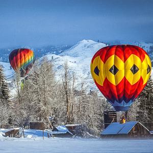 go hot air ballooning in winthrop washington Mitchell Image