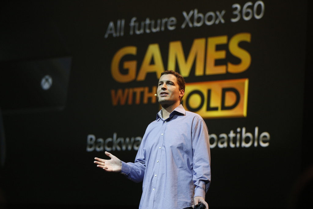Mike Ybarra, Head of Platform Engineering, Xbox, at the Xbox gamescom 2015 Briefing on Tuesday, 4 August 2015 in Cologne, Germany