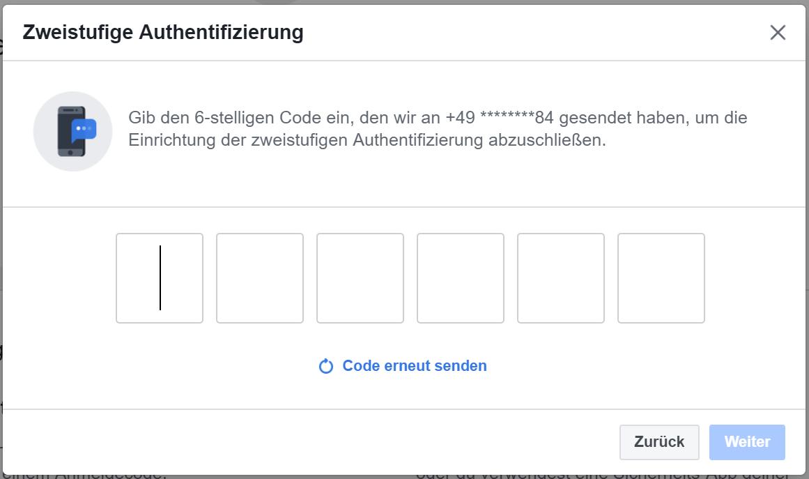 Facebook Wiederherstellungscode