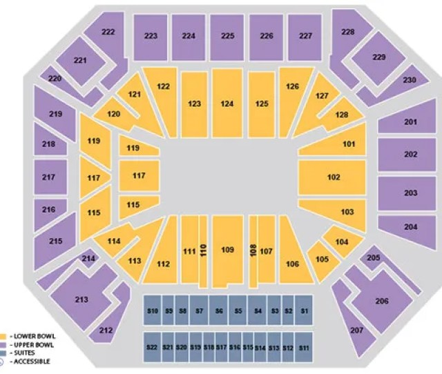 General Arena Seating Chart