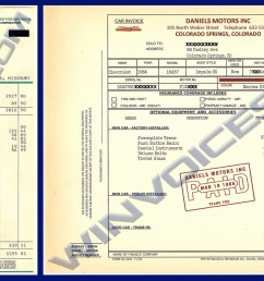 1966 impala ss window sticker 1966 impala ss dealer invoice [ 1585 x 840 Pixel ]