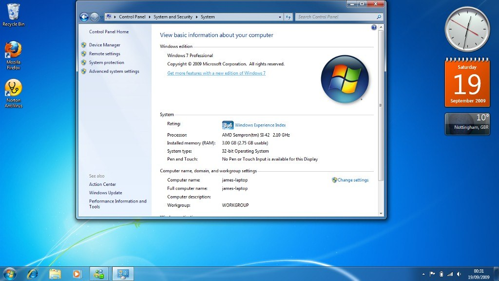 win 7 ultimate 32 bit system requirements