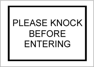 Please Knock Sign Template Excel Templates Free Download